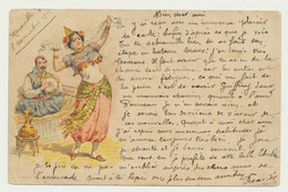 Carte Illustrée Fantaisie Danse Orientale - Editeur Moullot Marseille - 1900-1949