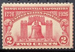 USA, 1926, Mi 303, Independence Sesquicentannial Exposition, Liberty Bell (1752), Philadelphia, Pennsylvania, 1v, MNH - Musica