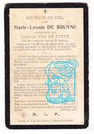 DP Marie Leonie De Bruyne ° Vurste Gavere 1871 † Melsen Merelbeke 1911 X Judocus Van De Putte - Santini