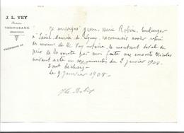 43 -  Notaire Vey Yssingeaux 1908 Jean Marie Robin Boulanger à Saint Maurice De Lignon - 1900 – 1949