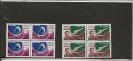 RUSSIE - SERIE COSMOS N° 2452 Et 2453- BLOC DE 4 NEUF SANS CHARNIERE  -ANNEE 1961 - Unused Stamps