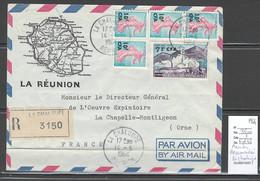 Reunion - Lettre BRAS PANON - Cachet  Pointillé -1960 - Covers & Documents