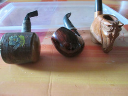Lot De 3 Pipes - Pipas En Madera De Brezo ( Bruyere)