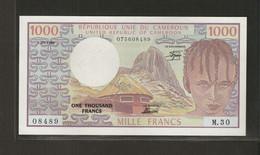 Cameroun, 1,000 Francs, 1974 ND & 1978-1983 Issue - Kameroen
