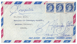 EW232     Canada 1962 Lively Ontario Air Mail Cover Sent To Spain, 5c Queen Elizabeth II - Lettres & Documents