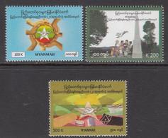 2017 Myanmar Peace Conference   Complete Set Of 3 MNH - Myanmar (Birmanie 1948-...)