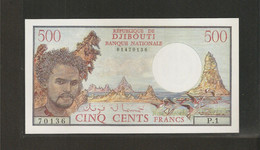 Djibouti, 500 Francs, 1979-1988 ND Issue - Djibouti