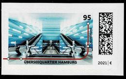 Bund 2021,Michel# 3607 ** U-Bahn Station Hamburg, Selbstklebend - Ungebraucht