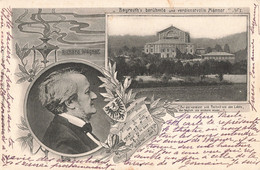 Allemagne Richard Wagner  Bayreuth Beruhmte Und Verdienstvolle Manner + Timbre Cachet Bayreuth - Bayreuth