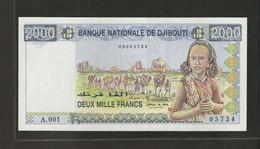 Djibouti, 2,000 Francs, 1997-1999 ND Issue - Djibouti