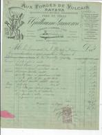 BAYEUX   FACTURE ENVOYEE A LA MERE SUPERIEURE DE L'HOTEL DIEU DE BAYEUX  AUX FORGES DE VULCAIN 1901 - 1900 – 1949