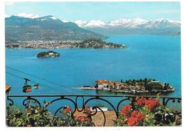LAGO MAGGIORE Panorama Con L'Isolabella, L'Isola Madre E La Funivia - Téléférique Stresa-Mottarone - Ed. Brunner - 1973 - Verbania