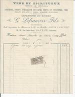 BAYEUX   FACTURE ENVOYEE A LA MERE SUPERIEURE DE L'HOTEL DIEU DE BAYEUX  1913 - 1900 – 1949