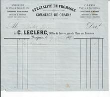 BAYEUX   FACTURE ENVOYEE A LA MERE SUPERIEURE DE L'HOTEL DIEU   1887 - 1800 – 1899