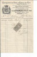BAYEUX   FACTURE ENVOYEE A LA MERE SUPERIEURE DE L'HOTEL DIEU   1901 - 1800 – 1899