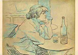 Art - Peinture - Henri De Toulouse-Lautrec - La Buveuse - CPM - Voir Scans Recto-Verso - Pittura & Quadri
