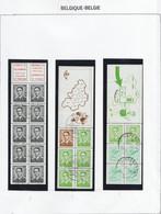 Belgie   .    9 Boekjes  .     O   .    Gebruikt  .   /   .   Oblitéré - Booklets 1953-....
