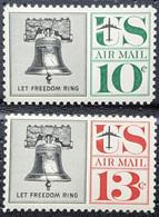 USA, 1960, Mi 781-782, Liberty Bell, 2v, MNH - Musica