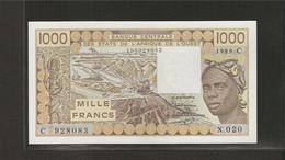 Afrique De L'Ouest (Etats D', 1,000 Francs - West African States