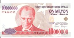 TURQUIE 10 MILLION LIRA 1999 VF+ P 214 - Turkije