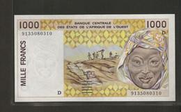 Afrique De L'Ouest (Etats D', 1,000 Francs  D For Mali - West African States