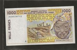 Afrique De L'Ouest (Etats D', 1,000 Francs, A For Cote D'Ivoire - West African States