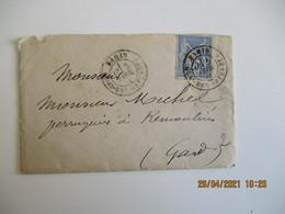 1877 , Paris Quai Des Orfevres Obliteration Lettre Timbre Sage - 1877-1920: Semi Modern Period