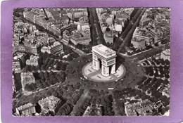 75 Paris  L'Etoile Son Arc De Triomphe Sa Place Ses Avenues  Vue Aérienne EN AVION SUR PARIS Pilote Opérateur R. HENRARD - Arc De Triomphe
