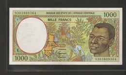 Afrique Centrale (Etats D' ), 1,000 Francs, E For Cameroun (1993-2002) - Central African States