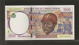 Afrique Centrale (Etats D' ), 5,000 Francs, E For Cameroun (1993-2002) - Central African States