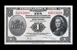 # # # Banknote Niederländisch Indien (Neth. Indies) 1 Gulden 1943 UNC- # # # - Dutch East Indies