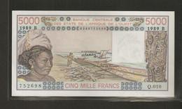 Afrique De L'Ouest (Etats D', 5,000 Francs, Série B - West African States