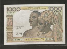 Afrique De L'Ouest (Etats D', 1,000 Francs, C For Burkina Faso - West African States