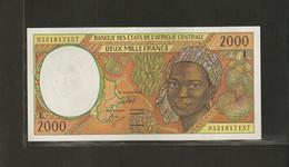 Afrique Centrale (Etats D' ), 2,000 Francs, Série L - Central African States