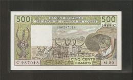 Afrique De L'Ouest (Etats D', 500 Francs, C For Burkina Faso - West African States