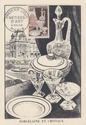 Carte  Maximum  1er  Jour   FRANCE   METIERS   D' ART :  Porcelaine  Et   Cristaux  1954 - 1950-59