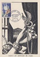 Carte  Maximum  1er  Jour   FRANCE   METIERS   D' ART  :  Bijoux   Et   Articles  De  Paris   1954 - 1950-59