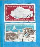 (Us4) Germania ° - DDR  - 1960 -   Yvert. 497-498.   Usato. - Used Stamps
