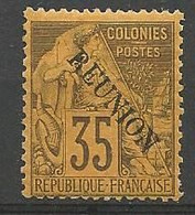 REUNION  N° 25a NEUF*  CHARNIERE / MH - Unused Stamps