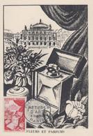Carte Maximum  1er  Jour    FRANCE    METIERS   D' ART  :  Fleurs  Et   Parfums    1954 - 1950-59