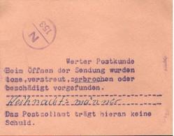 ! DDR Post Zoll Zettel Aus Neubrandenburg , Selten - Briefe U. Dokumente