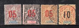 KS40B - ST PIERRE ET MIQUELON 1912,  Quattro Piccoli Valori Usati. - Used Stamps