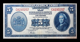 # # # Banknote Niederländisch Indien (Neth. Indies) 5 Gulden 1943 # # # - Dutch East Indies