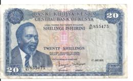 KENYA 20 SHILLINGS 1972 VF P 8 C - Kenya