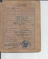 SAINT LO DEPT 50 CARTE INDIVIDUELLE D'ALIMENTATION  1948 - Historische Dokumente