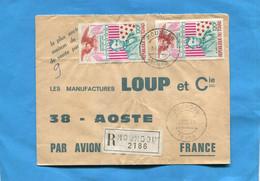 Marcophilie-lettre-Gabon REC>Françe-cad-Mondou1977-thematic-2-  Stamps-N°A193 A LINCOLN-US - Gabon