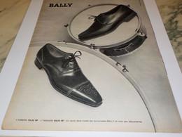ANCIENNE PUBLICITE  CHAUSSURE BALLY 1961 - Otros