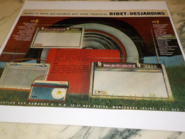 ANCIENNE PUBLICITE TRANSISTOR RIBET DESJARDINS 1961 - Altri