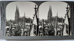 PHOTO STÉRÉO ALLEMAGNE - Vue De Cologne, La Rome Du Nord - Cliché De Singley  - 1902 - Keystone TBE - Stereoscopio