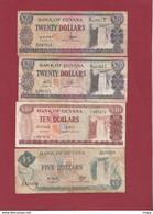 Guyana 7  Billets Dans L 'état - Guyana
